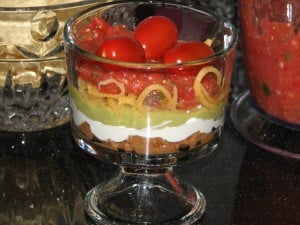 Seven Layer Dip Trifle
