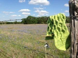 Handknit Green Socks