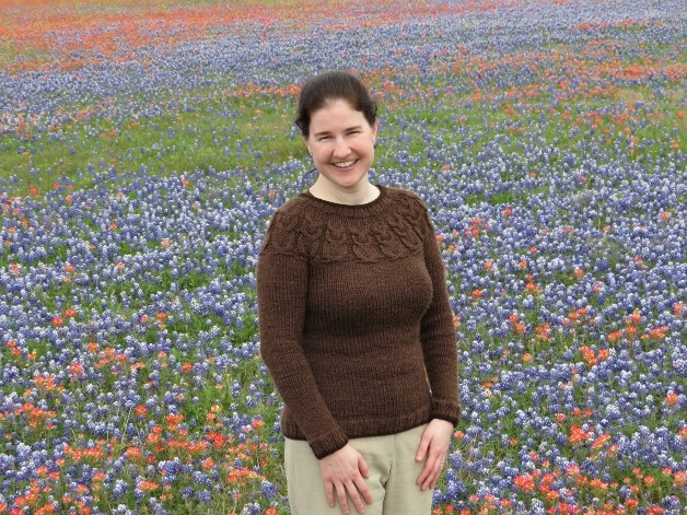 Owl Sweater in Bluebonnets