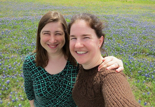 Meghan and Katie in the Bluebonnets
